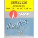 Haczyki VMC Limerick długi nr14 9210 GO